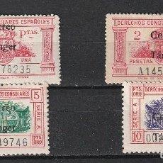 Sellos: ESPAÑA.TANGER.EDIFIL Nº143-146.SERIE CORTA DE SELLOS CONSULARES HABILITADOS.NUEVOS MNH.. Lote 274218703