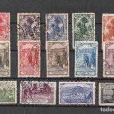 Sellos: ESPAÑA.MARRUECOS.EDIFIL Nº105-118.USADOS.COMPLETA.PAISAJES Y MONUMENTOS.1928. Lote 274220753