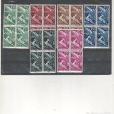 Sellos: MARRUECOS-IFNI-89/94-AÉREA BÁSICA BLOQUE DE CUATRO (SEGÚN FOTO). Lote 275724368