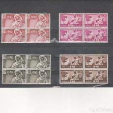 Sellos: MARRUECOS-IFNI-95/98 PRO INFANCIA -MÚSICOS BLOQUE DE CUATRO (SEGÚN FOTO). Lote 275725018
