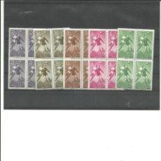 Sellos: ANTIGUAS COLONIAS ESPAÑOLAS -GUINEA- 350/354 AÉREOS FUTBOL BLOQUE DE CUATRO (SEGÚN FOTO). Lote 275884118