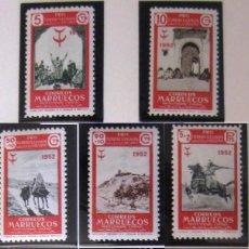 Selos: MARRUECOS - PROTECTORADO ESPAÑOL. AÑO 1952, EDIFIL 361/68** ''PRO-TUBERCULOSOS''./ NUEVOS, MNH.. Lote 275916943