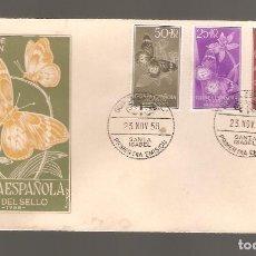 Sellos: 1 SOBRE PRIMER DIA GUINEA ESPAÑOLA AÑO 1957. Lote 275940368
