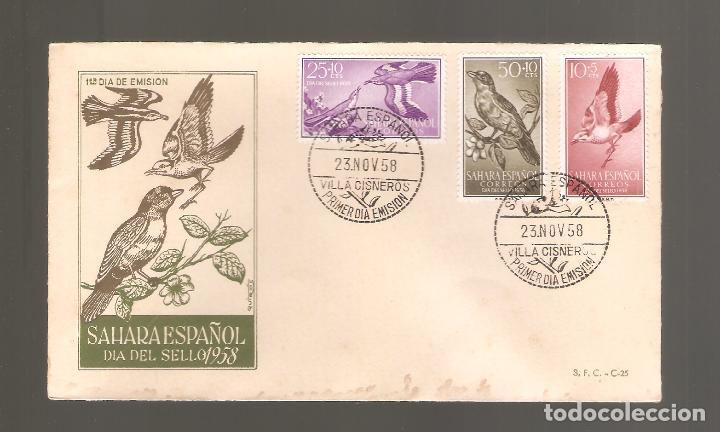 1 SOBRE PRIMER DIA SAHARA AÑO 1958 (Sellos - España - Colonias Españolas y Dependencias - África - Sahara)