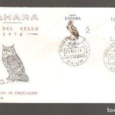 Sellos: 1 SOBRE PRIMER DIA SAHARA AÑO 1974. Lote 275960933