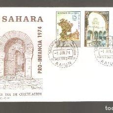 Sellos: 1 SOBRE PRIMER DIA SAHARA AÑO 1974. Lote 275961098
