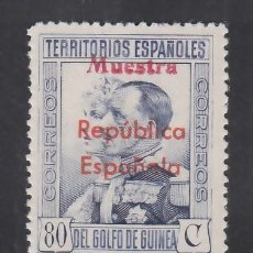 """Sellos: GUINEA,1931 EDIFIL Nº 240M /**/, HABILITACIÓN """" MUESTRA """". Lote 276384778"""