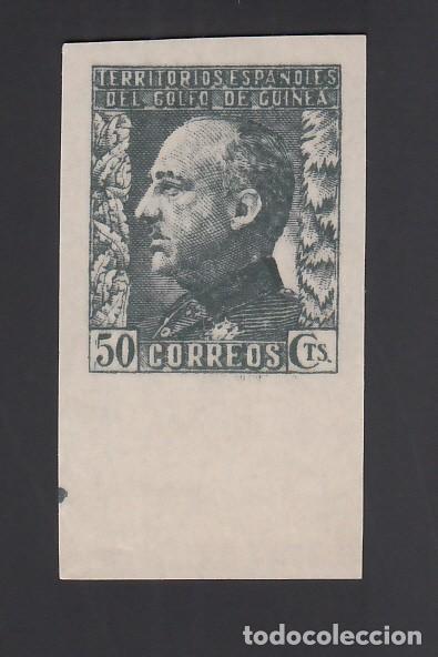 GUINEA,1940 EDIFIL Nº 262S /**/. 50 C. PIZARRA, GENERAL FRANCO, BORDE DE HOJA SIN DENTAR (Sellos - España - Colonias Españolas y Dependencias - África - Guinea)