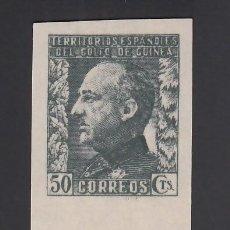 Sellos: GUINEA,1940 EDIFIL Nº 262S /**/. 50 C. PIZARRA, GENERAL FRANCO, BORDE DE HOJA SIN DENTAR. Lote 276386518