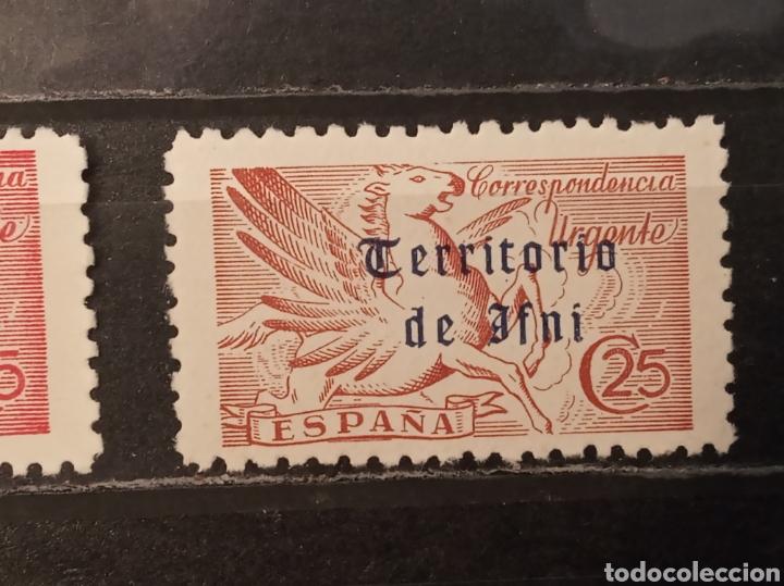 Sellos: España. Edifil 879. 25 céntimos urgente Territorio de Ifni. Dos tonalidades. ** - Foto 3 - 276435323
