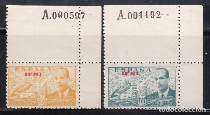 IFNI, 1948 EDIFIL Nº 57 / 58 /**/, JUAN DE LA CIERVA, SIN FIJASELLOS. (Sellos - España - Colonias Españolas y Dependencias - África - Ifni)