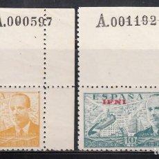 Sellos: IFNI, 1948 EDIFIL Nº 57 / 58 /**/, JUAN DE LA CIERVA, SIN FIJASELLOS.. Lote 276541073
