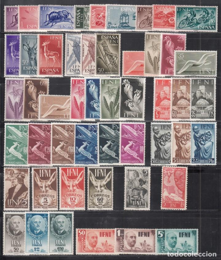 IFNI, 1950 - 1965 LOTE DE SERIES COMPLETAS /*/, (Sellos - España - Colonias Españolas y Dependencias - África - Ifni)
