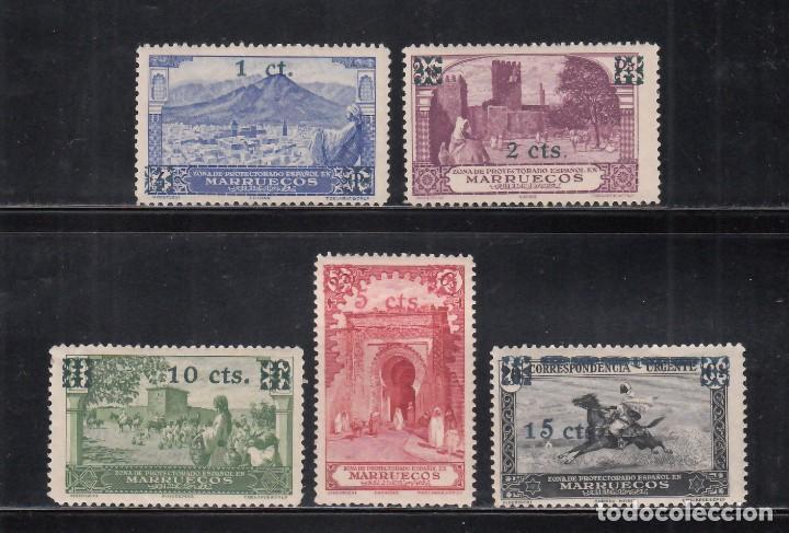 MARRUECOS, 1936 EDIFIL Nº 162 / 166 **/*, (Sellos - España - Colonias Españolas y Dependencias - África - Marruecos)