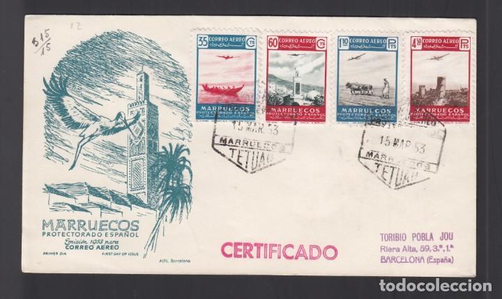 MARRUECOS, 1953. PAISAJES, SERIE COMPLETA SPD. (Sellos - España - Colonias Españolas y Dependencias - África - Marruecos)