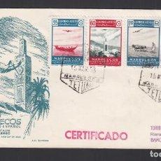 Sellos: MARRUECOS, 1953. PAISAJES, SERIE COMPLETA SPD.. Lote 276582898