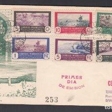 Sellos: MARRUECOS, 1951 CAZA Y PESCA, SERIE COMPLETA SPD.. Lote 276582963