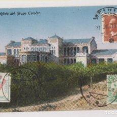 Sellos: BONITA POSTAL DE MELILLA. CON SELLOS MATASELLADOS EN TÁNGER, MARRUECOS, Y MELILLA. 1933. Lote 276584188