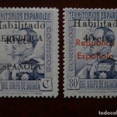 Sellos: ESPAÑA - PRIMER CENTENARIO - COLONIAS - GUINEA 1939 - EDIFIL 254/255 - NUEVOS CON GOMA - .. Lote 276698018