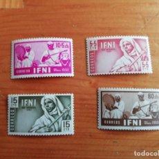 Sellos: IFNI. EDIFIL 95-98. SERIE COMPLETA, NUEVOS. Lote 276701553