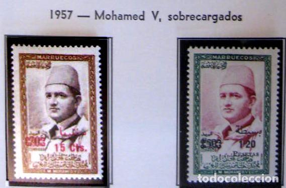 MARRUECOS - INDEPENDIENTE. AÑO 1957, EDIFIL 19/20** ''MOHAMED V SOBRECARGADOS''./ NUEVOS, MNH. (Sellos - España - Colonias Españolas y Dependencias - África - Marruecos)