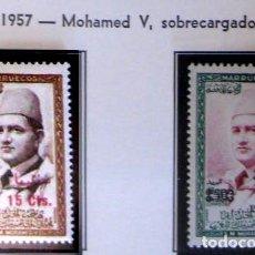 Francobolli: MARRUECOS - INDEPENDIENTE. AÑO 1957, EDIFIL 19/20** ''MOHAMED V SOBRECARGADOS''./ NUEVOS, MNH.. Lote 276957953