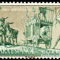 Sellos: SAHARA ESPAÑOL 1958 EDIFIL 151 SELLO * PRO INFANCIA DON QUIJOTE Y SANCHO PANZA AVENTURA LEON MI 182. Lote 277132653