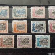 Sellos: ESPAÑA. GUINEA 1924. LA CASA DE NIPA. EDIFIL 167/177. **. Lote 277231688