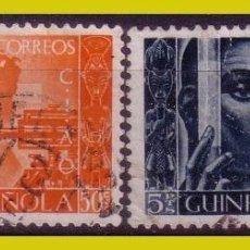 Sellos: GUINEA 1951 CONFERENCIA INTERNACIONAL DE AFRICANISTAS OCCIDENTALES, EDIFIL Nº 309 Y 310 (O). Lote 278328883