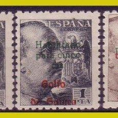 Sellos: GUINEA 1949 GENERAL FRANCO HABILITADOS, EDIFIL Nº 273 A 274 * *. Lote 278334498
