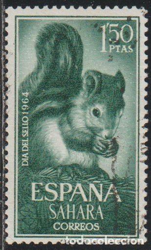 SAHARA ESPAÑOL 1964 EDIFIL 238 SELLO º FAUNA ARDILLA RED SQUIRREL (SCIURUS VULGARIS) MICHEL 269 (Sellos - España - Colonias Españolas y Dependencias - África - Sahara)