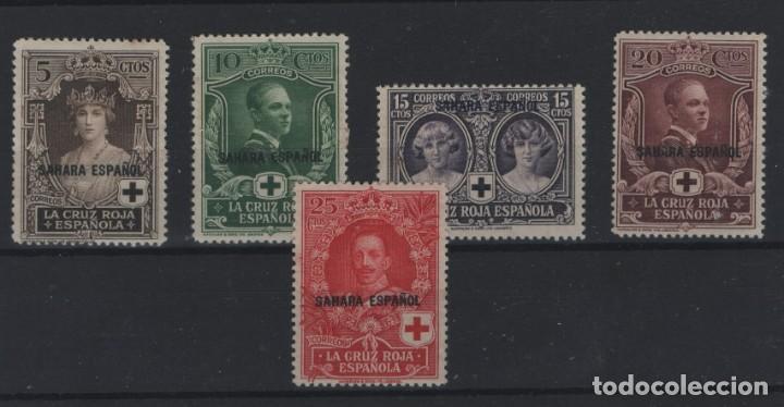 R10/ SAHARA ESPAÑOL 1926, EDIFIL 13/17 *, VALOR 39,50 € (Sellos - España - Colonias Españolas y Dependencias - África - Sahara)