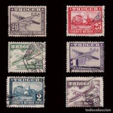 Sellos: ESPAÑA.TANGER.1948. AVIONES.SERIE USADO.EDIFIL 166-171.. Lote 279450978