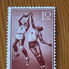 Sellos: GUINEA, SERIE BASICA, 1958, EDIFIL 377, NUEVO CON FIJASELLOS. Lote 279516978