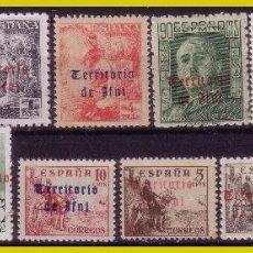 Sellos: IFNI 1948 SELLOS DE ESPAÑA HABILITADOS, EDIFIL Nº 37 A 41, 44, 46, 48, 49, 52, 54 Y 56 * *. Lote 279537838