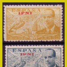 Sellos: IFNI 1948 JUAN DE LA CIERVA, EDIFIL Nº 57 Y 58 * *. Lote 280109343
