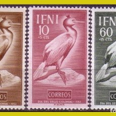 Sellos: IFNI 1951 DÍA DEL SELLO, EDIFIL Nº 76 A 78 * *. Lote 280110343