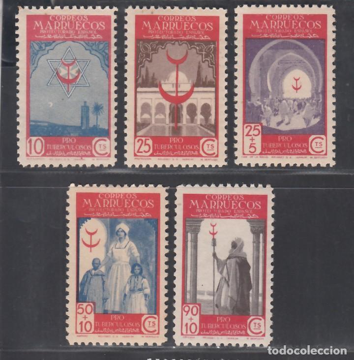 MARRUECOS, 1947 EDIFIL Nº 275 / 279 /**/, SIN FIJASELLOS (Sellos - España - Colonias Españolas y Dependencias - África - Marruecos)