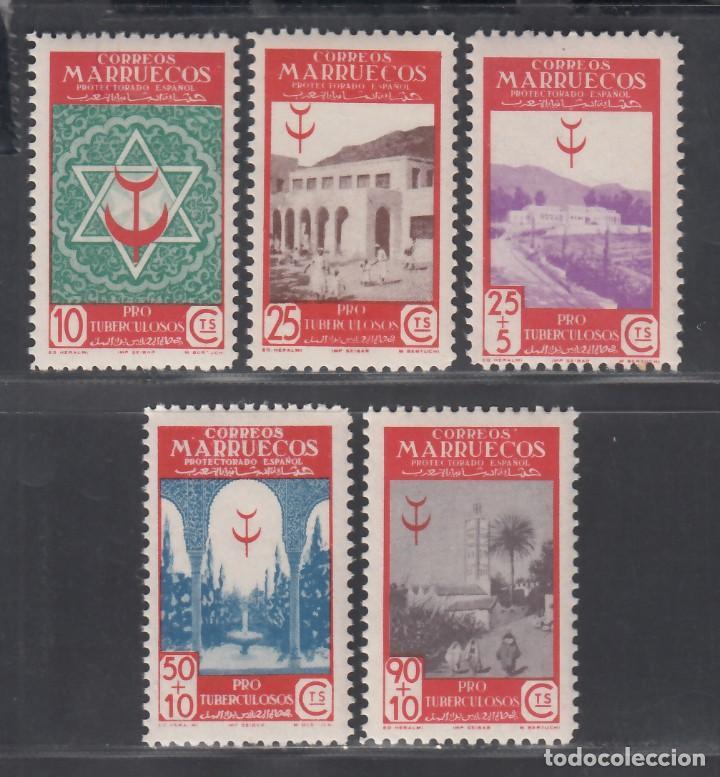 MARRUECOS, 1946 EDIFIL Nº 270 / 274 /**/, SIN FIJASELLOS (Sellos - España - Colonias Españolas y Dependencias - África - Marruecos)
