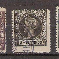 Sellos: ELOBEY, ANNOBON Y CORISCO 1905 ALFONSO XIII - EDIFIL 20-21-23 - USADOS. Lote 283498143