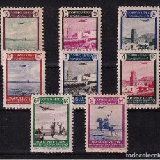 Sellos: ESPAÑA.MARRUECOS EDIFIL Nº297-304.PAISAJES Y AVION.NUEVOS MNH.COMPLETA.1949. Lote 284185553