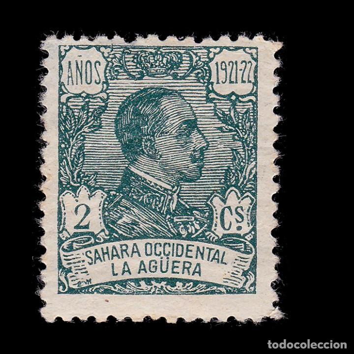 LA AGÜERA.1923.ALFONSO XIII. 2C.CENTRADO.MH. EDIFIL.15 (Sellos - España - Colonias Españolas y Dependencias - África - La Agüera)