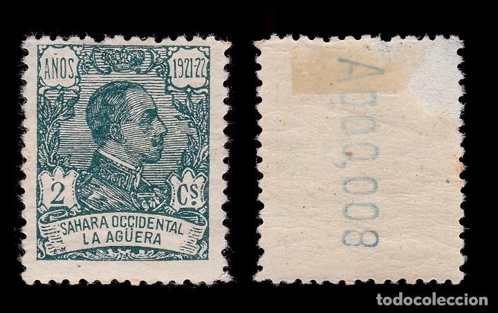 Sellos: LA AGÜERA.1923.Alfonso XIII. 2c.centrado.MH. Edifil.15 - Foto 2 - 286190103