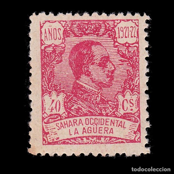 LA AGÜERA.1923.ALFONSO XIII.40C.MH. EDIFIL.22 (Sellos - España - Colonias Españolas y Dependencias - África - La Agüera)