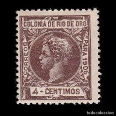 Sellos: RÍO DE ORO.1905.ALFONSO XIII.4C.MH. EDIFIL 4. Lote 286191933