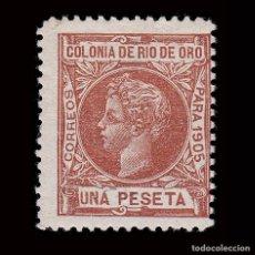 Sellos: ESPAÑA.RÍO DE ORO.1905. ALFONSO XIII.1P.MH. EDIFIL 11. Lote 286228240