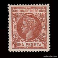Sellos: RÍO DE ORO.1905. ALFONSO XIII.1P.CENTRADO.MH. EDIFIL 11. Lote 286228349
