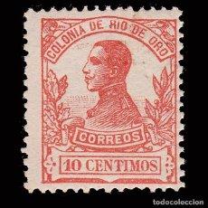 Sellos: RÍO DE ORO.1912. ALFONSO XIII.10C BERMELLÓN.MNH.EDIFIL 68. Lote 286306383