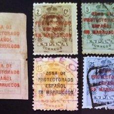 Selos: SERIE COMPLETA DE LA DEPENDENCIA ESPAÑOLA DE MARRUECOS. Lote 286531078
