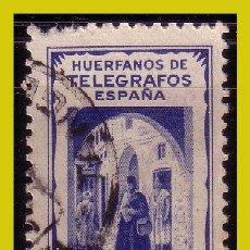 Selos: TÁNGER HUÉRFANOS DE TELÉGRAFOS, 25 CTS AZUL (O). Lote 286658273